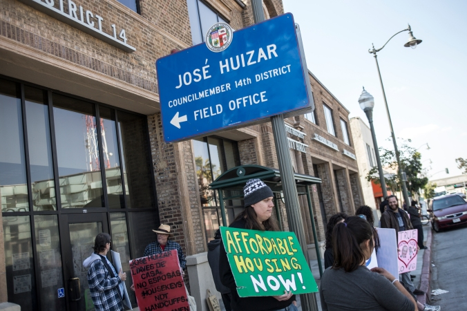 Skid Row Housing Protest at HuizarÕs Boyle Heights Office
