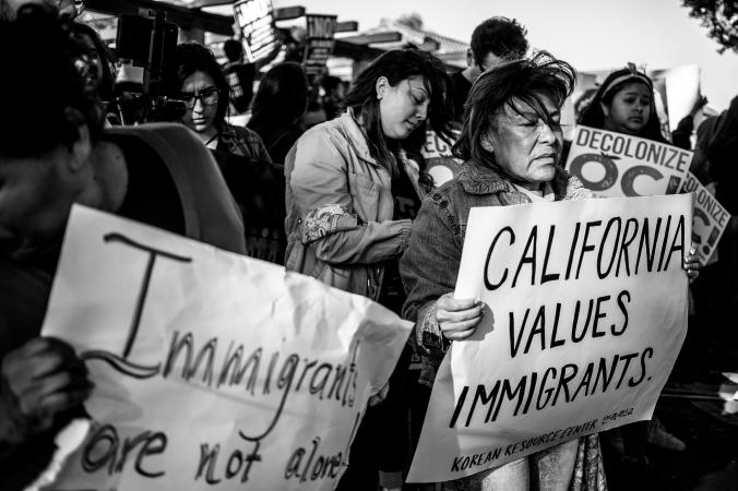 Los Alamitos protests break during votes on SB54