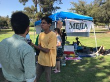 Volunteer Nathan Duran expresses why he's supporting Mejia. Photo: Peter Duran / The Sprawl